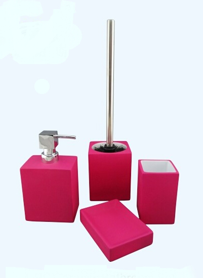 bathroom accessories set 2 finish rubber coated 3 color other color is available 4 four piece bathroom accessories