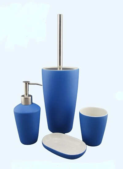 bathroom accessories set 2 finish glazed 3 color other color is available 4 four piece bathroom accessories