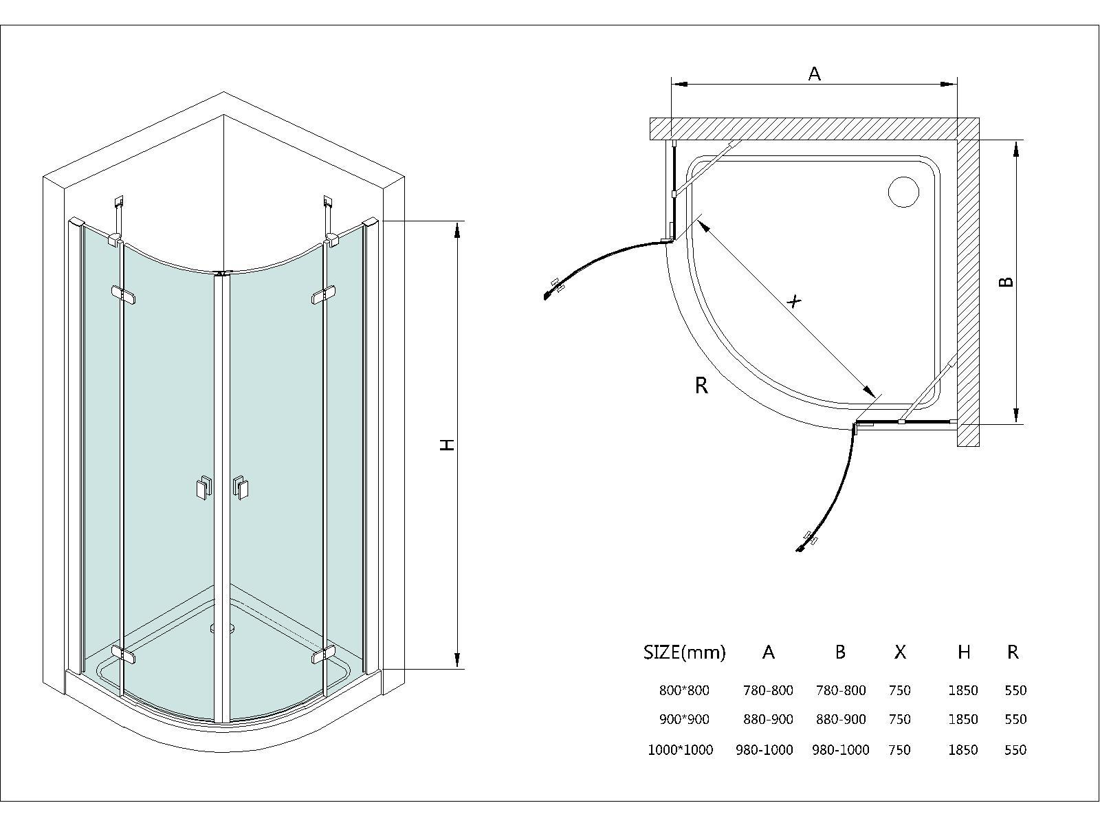 Mamparas de mamparas de ducha sin marco mamparas de for Perilla para ducha