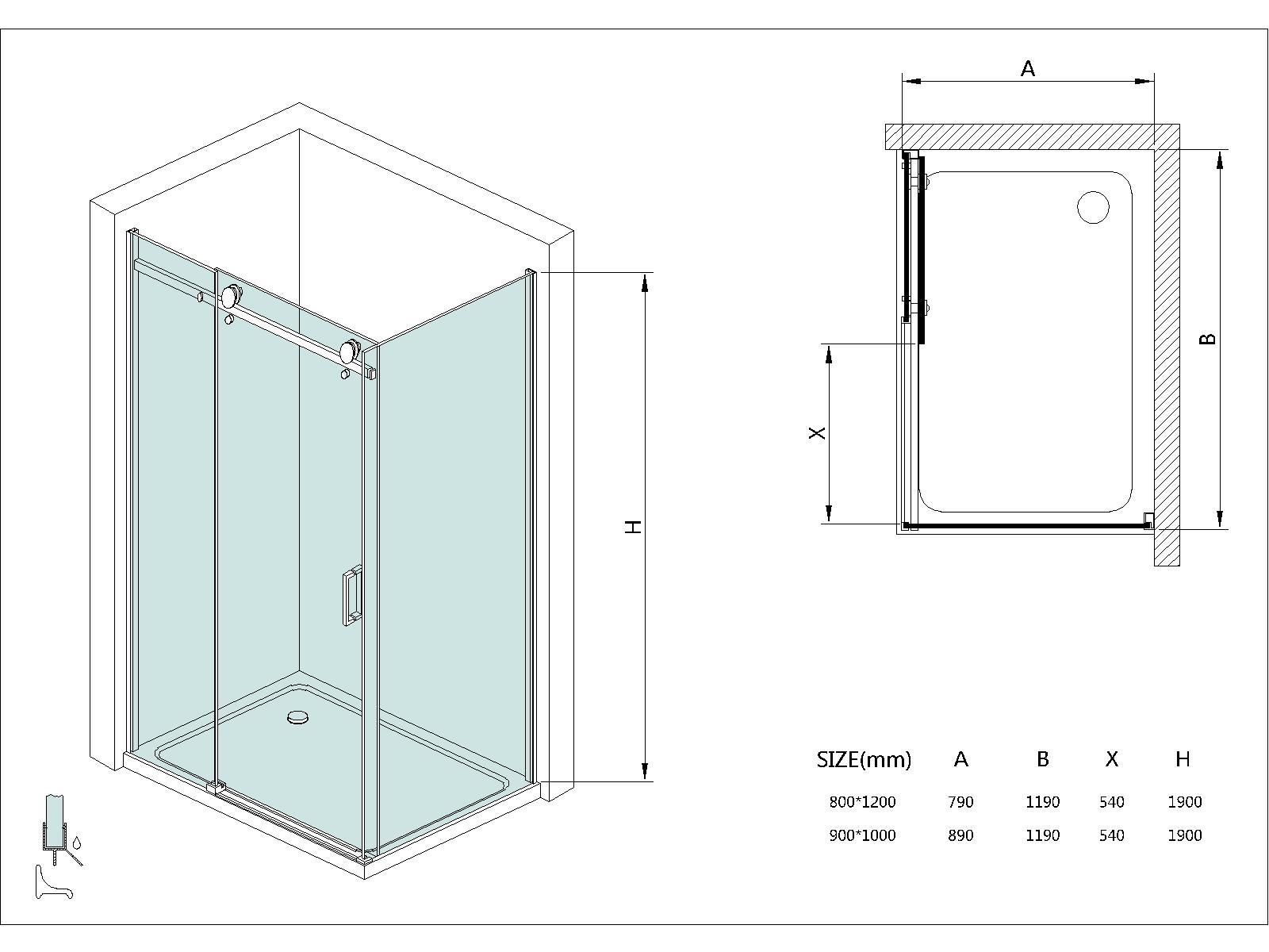 Cabine box doccia telaio cabine box doccia frameless di - Box doccia senza telaio ...