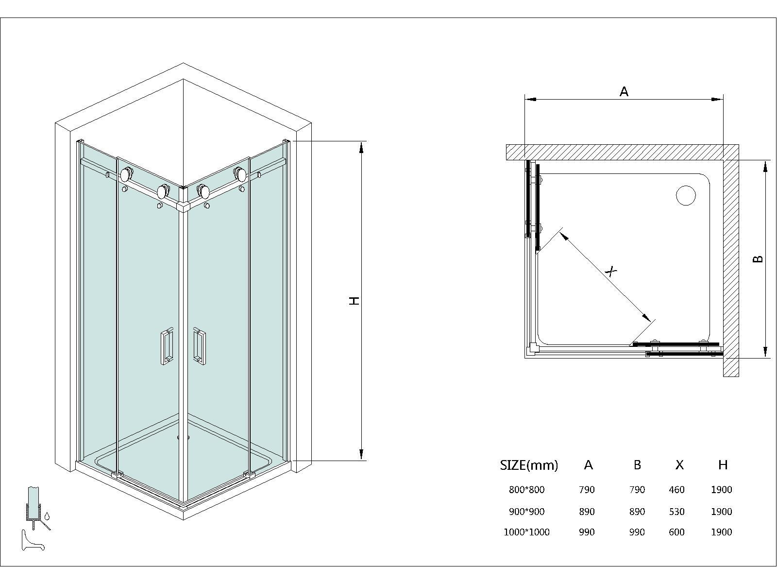 Cabine box doccia telaio cabine box doccia frameless di alta qualit da taiwan cina atman group - Box doccia senza telaio ...