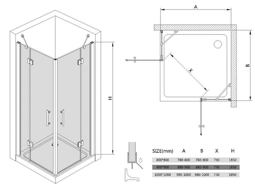 Senza cornice box doccia senza telaio di alta qualit - Box doccia senza telaio ...