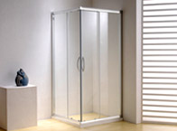 Semi-frameless shower enclosures, shower door