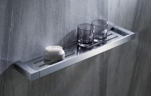 Mensole Da Bagno In Acciaio : Baoblaze mensola da bagno doccia monopetto acciaio inossidabile