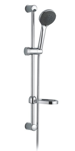 Slide rail shower kits